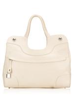 FURLA Roil Leather Tote Bag White