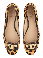 TORY BURCH Leopard Print Gigi Pump Coconut Sz 6.5
