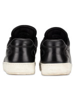 PRADA 3E6185 Vitello Sneakers Nero Cromo Sz 37.5
