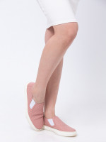 GUCCI Microguccissima Slip On Sneakers Soft Pink Sz 37