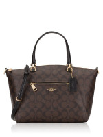 COACH 79998 Signature Prairie Satchel Brown Black