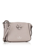 KATE SPADE Talia Leather Zip Crossbody Soft Taupe