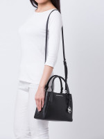MICHAEL KORS Kimberly Leather Small Satchel Black