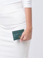 TORY BURCH Kira Chevron Card Case Malachite