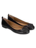 TORY BURCH Gabriel Leather Ballet Flat Black Sz 6.5