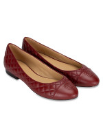 MICHAEL KORS Dylyn Leather Ballet Flats Brandy Sz 9