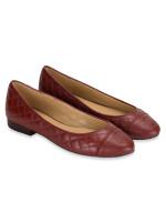 MICHAEL KORS Dylyn Leather Ballet Flats Brandy Sz 8.5