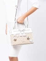 KATE SPADE Hayes Bee Embellished Small Satchel Natural