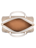 COACH 83607 Signature Rowan Satchel Light Khaki Chalk