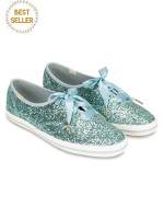 KEDS X Kate Spade Champion Glitter Dusty Blue Sz 9