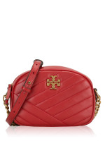TORY BURCH Kira Chevron Small Camera Bag Red Apple