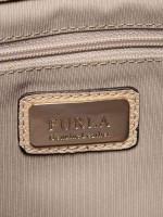 FURLA Julia Large Leather Top Handle Satchel Cream