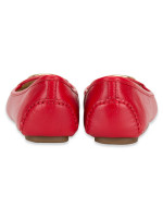 MICHAEL KORS Lillie Leather Flats Bright Red Sz 6