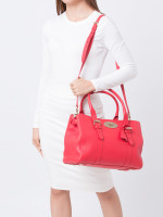 MULBERRY Bayswater Small Double Zip Tote Hibiscus