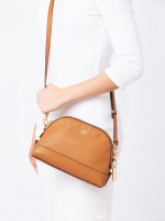 COACH 76673 Leather Mini Dome Crossbody Light Saddle