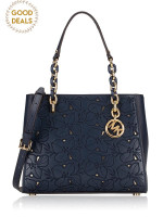 MICHAEL KORS Sofia Floral Medium North South Tote Navy