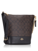 COACH 76669 Signature Small Paxton Duffle Brown Black
