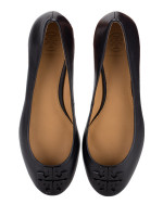 TORY BURCH Lowell 2 Leather Flats Perfect Black Sz 6