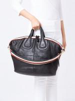 GIVENCHY Leather Medium Nightingale Black