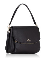 KATE SPADE Jackson Medium Flap Shoulder Bag Black
