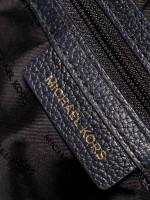 MICHAEL KORS Mercer Medium Leather Dome Satchel Black