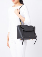 CELINE Grained Leather Mini Belt Bag Black