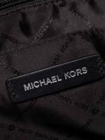 MICHAEL KORS Sadie Large Leather Satchel Ash Grey Black