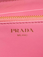 PRADA 1ML506 Vitello Move Zip Wallet Geranio