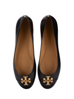 TORY BURCH Everly Leather Ballet Flat Perfect Black Sz 8.5
