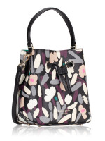 KATE SPADE Eva Fete Floral Small Bucket Black Multi