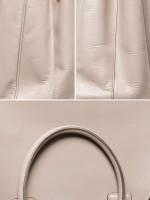 PRADA BN1786 Saffiano Lux Double Zip Tote Argilla