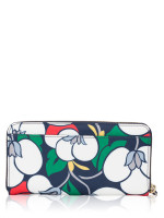 KATE SPADE Dawn Breezy Floral Large Continental Wallet Blazer Blue Multi