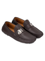 LOUIS VUITTON Men Racetrack Leather Loafers Brown Sz 8