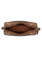 COACH 91677 Signature Mini Camera Bag Khaki Saddle