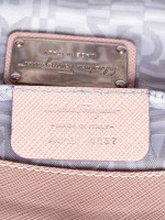 SALVATORE FERRAGAMO Gancini Leather Pochette Blush