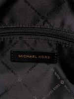 MICHAEL KORS Bedford Signature Large Duffle Bag Beige Black