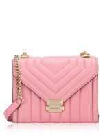 MICHAEL KORS Whitney Quilted Leather Convertible Shoulder Bag Carnation