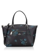 COACH 80004 Victorian Floral Prairie Satchel Blue Black Multi