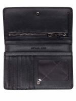 MICHAEL KORS Jet Set Leather Slim Bifold Wallet Black