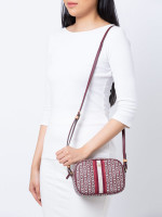 TORY BURCH Gemini Link Canvas Mini Bag Royal Burgundy