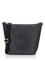 MICHAEL KORS Fulton Sport Signature Large Zip Bucket Messenger Black
