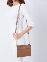 MICHAEL KORS Kenly Leather Large Double Zip Crossbody Luggage
