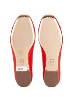 TORY BURCH Chelsea Cap-Toe Ballet Flat Poppy Orange Sz 7