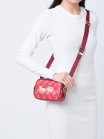 COACH 84639 Horse And Carriage Print Crossbody Bright Red Cherry