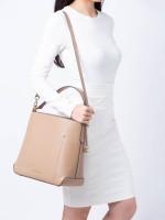 MICHAEL KORS Hayes Leather Large Bucket Bag Dark Khaki