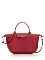 LONGCHAMP Le Pliage Cuir Small SH Red
