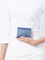 PRADA 1MV204 Vitello Move Small Wallet Bluette