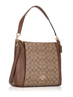 COACH 79993 Signature Marlon Hobo Khaki Saddle