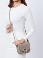 AIGNER Pina Mini Leather Crossbody Bag Taupe
