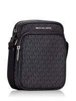 MICHAEL KORS Men Jet Set Travel Medium Flight Bag Crossbody Black